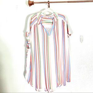 Evri striped blouse tunic size 3X